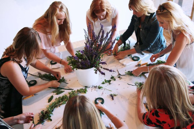 Bokay Studio Pierre flower crown workshop